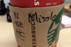 starbucks spell wrong name verkeerde naam